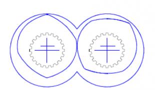 高速深螺槽双螺杆挤出机不规则几何外形螺纹元件